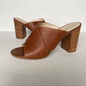COLE HAAN Gabby Woodbury Leather Sandal Mules 7B